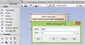 Parametr dla komunikatu WSDL