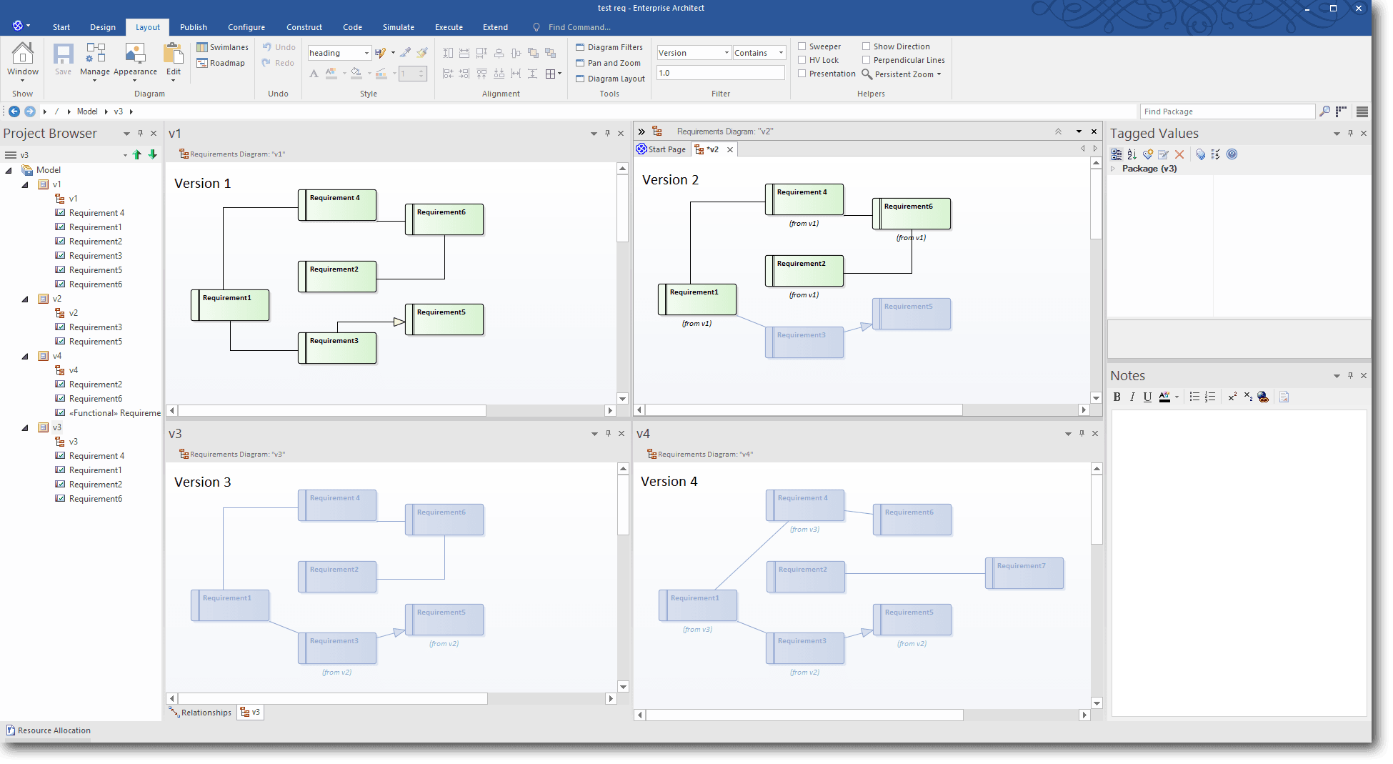 version-aware-models_Enterprise Architect