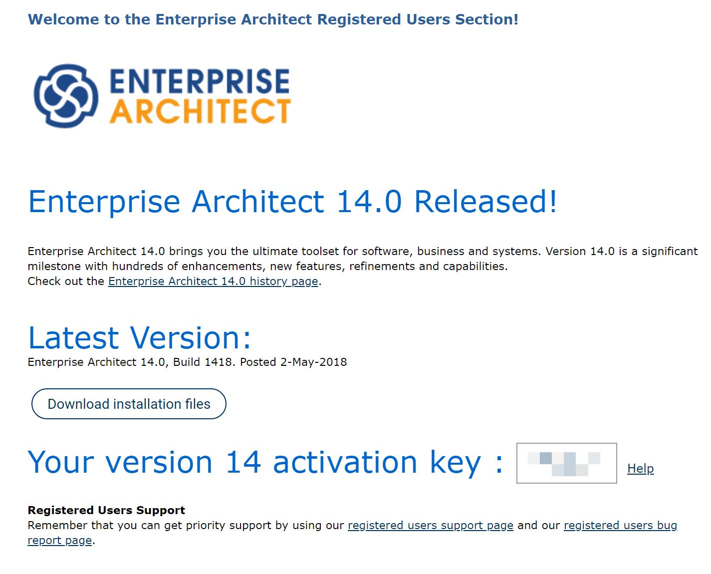 Enterprise Architect - klucz