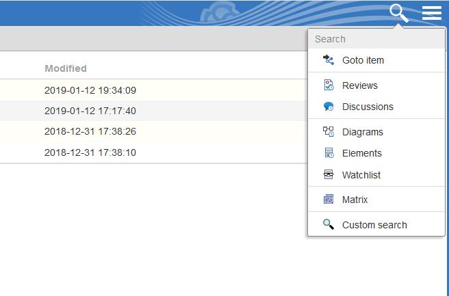 Enterprise Architect Pro Cloud Server - wyszukiwanie