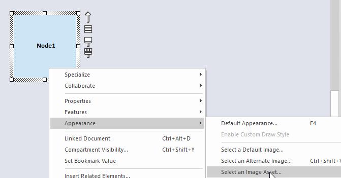 Modelowanie Aws Azure Google Cloud Enterprise Architect Dodawanie Ikony Istniejący Element